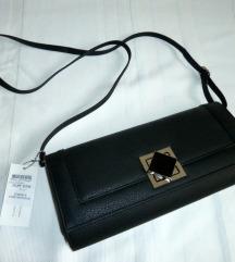 NOVA črna usnjena torbica Z ETIKETO