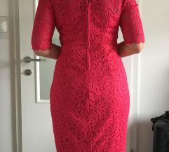 Orsay čipkasta obleka malin 38