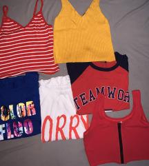 Nove kratke majice, crop topi