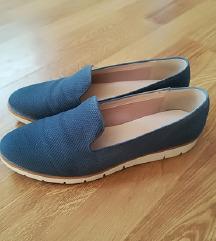 Modri slip-on čevlji
