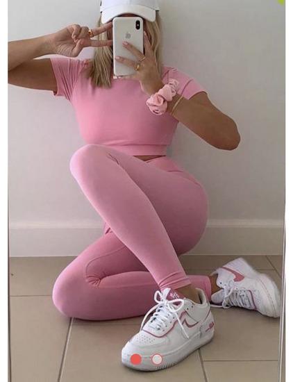 💖💕💞Roza pink komplet Two piece UNI💞💞