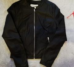 Črna jakna, imitacija usnja