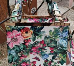 ZNIŽANO- rožasta torbica