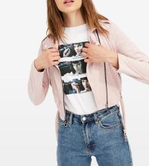 Roza semiš baby pink jakna