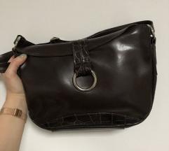 Usnjena rjava torbica