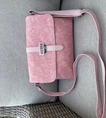 Nežno roza GUESS torbica
