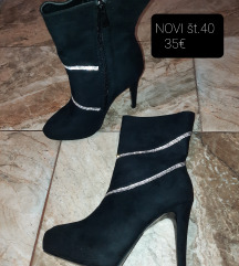 Semiš črni škornji