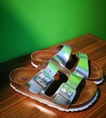 novi Birkenstock ARIZONA sandali srebrni