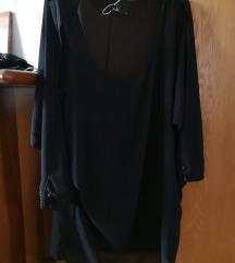 Črna obleka, dolga majica, elegantna M/L