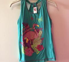 Turkizna flamingo majica 164