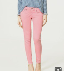 Baby pink Zara hlace / pajkice slim fit