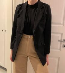SAMO 5 €! Nov črn blazer XS