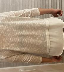 Belo-srebrna majica