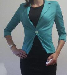 Zelen suknjič, jakna, sako