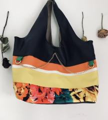 Poletna flower ročno narejena torbica