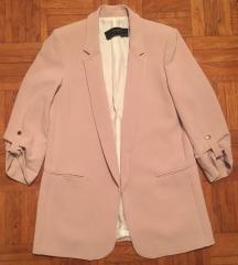 ZARA roza daljši blazer M/38