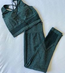 PRIMARK Leggings & Sports Bra Green