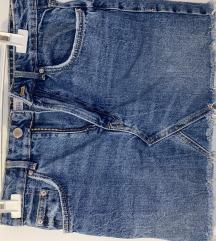 Kratko jeans krilo zara