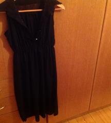 High low crna obleka