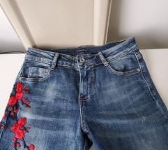 Skinny yeans hlace z rozicami