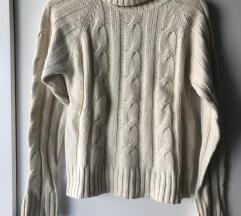 Beige volnen pulover