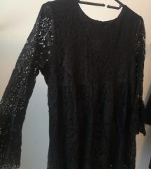 Črna čipkasta obleka / tunika, AKCIJA