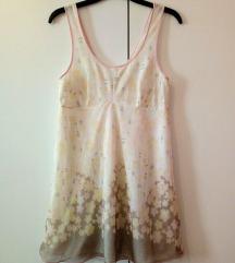 Lahkotna rožasta floral spalna oblekca srajca S