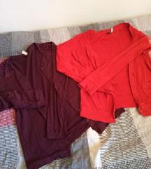 2x jopa - rdeča in vijolična / XS in S
