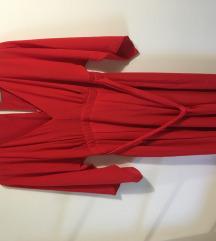 Nova rdeča asos obleka