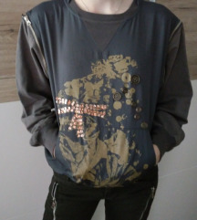 Lahek pulover s snemljivimi rokavi