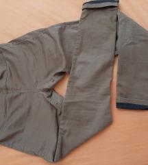 Amisu rjave/zenf hlače 40