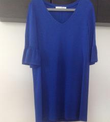 Obleka v pariško modri barvi M/L