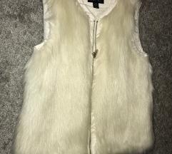 faux fur brezrokavnik