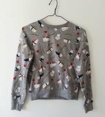 H&M siv pulover z mucki