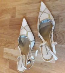 Sandali beli-zlati 37