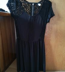 Poletna obleka črna čipka