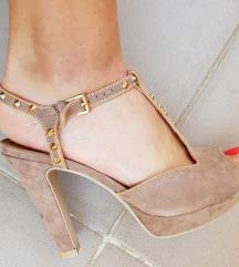 Sandali s platformo z netki