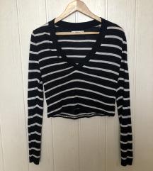 Zara crop-top tanek pulover