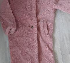 Teddy plašč baby roza
