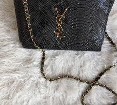 Črna YSL večerna torbica