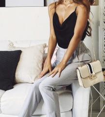 Sive elegantne tailoring hlace