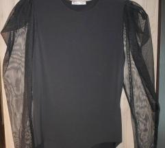 Zara nov body črn z mreža/rokavi