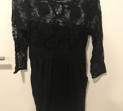 Črna obleka s čipko