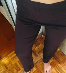 Rjave elegantne široke hlače
