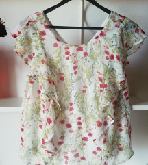 Bluza s cvetličnim vzorcem