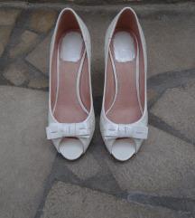 Beli lakirani salonarji peep-toe Dior,original
