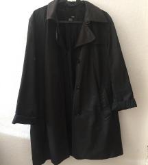 Črn kratek trench coat