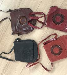 Usnjena torbica za cez ramo