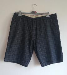 Moške črne kariraste bombažne kratke hlače