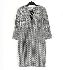 ZNIŽ.Nova črno bela obleka